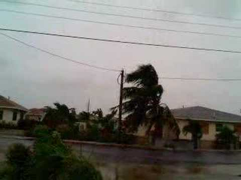 Cayman Islands-Hurricane Dean from my apartment...