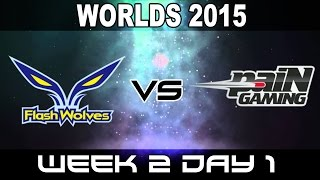 FW vs PNG - 2015 World Championship Week 2 Day 1 - yoe Flash Wolves vs Pain Gaming