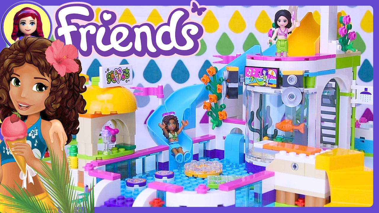 Lego Friends Heartlake Summer Pool 2017 Build Review Silly Play Kids Toys