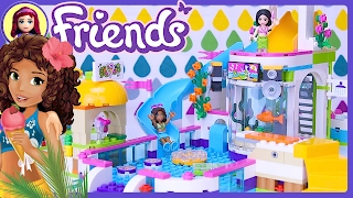LEGO Friends Heartlake Summer Pool 2017 Build Review Silly Play - Kids Toys