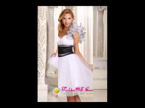 one-shoulder-a-line-white-prom-homecoming-dress-hand-made-flower