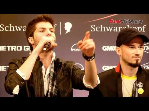 Loucas Yiorkas feat. Stereo Mike - Watch My Dance - Eurovision 2011 - Greece - Press conference