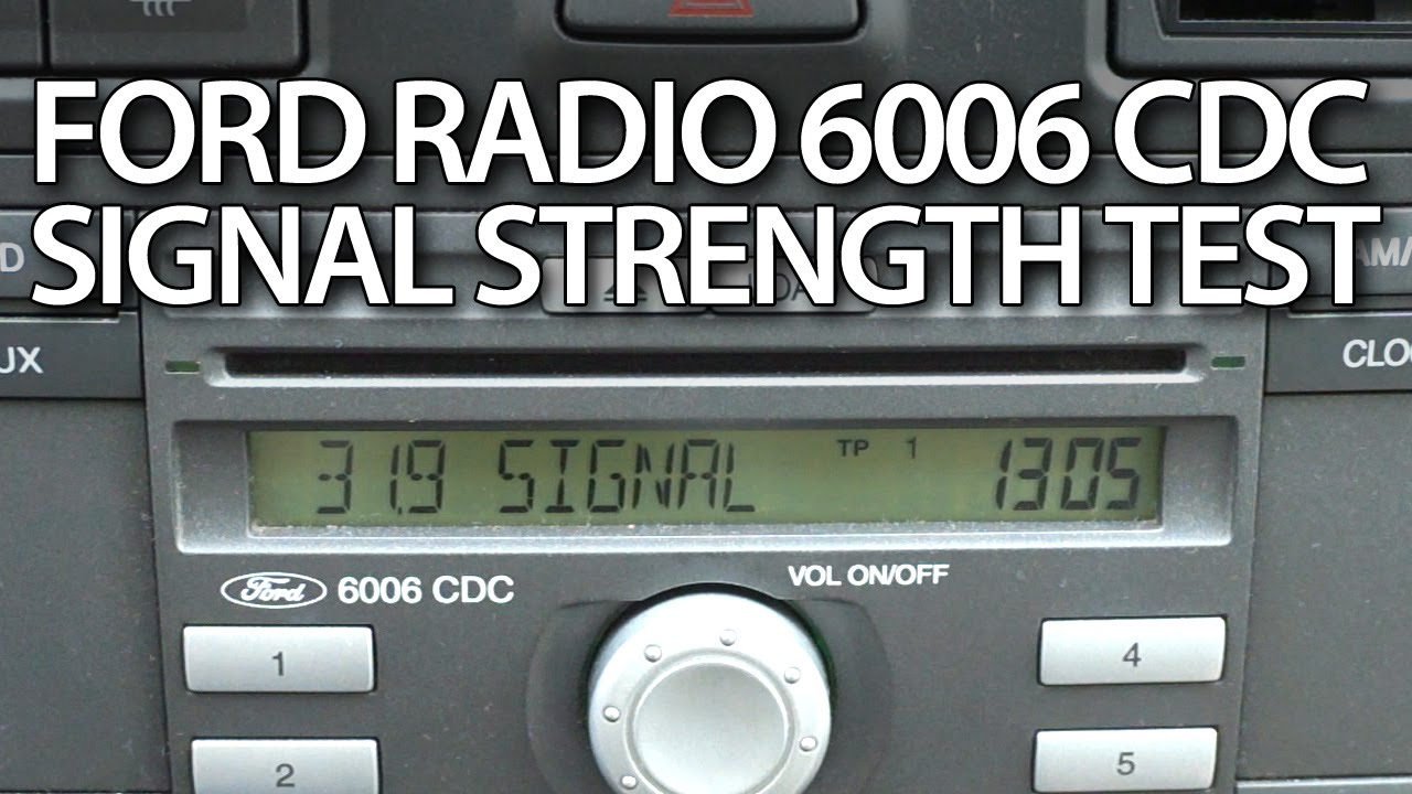 how to test signal strength in radio ford 6006 cdc diagnostic mode rh youtube com 6006 Digital Font 6006 Digital Font