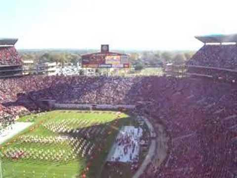 national anthem @ Bryant Denny stadium