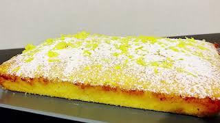 Лимонный пирог.Простой рецепт - всё смешал и готово. Лимонник, вкусный пирог к чаю