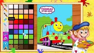 Coloriage Thomas le petit train I Coloriages pour enfants