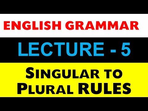Noun Rules English Grammar Lecture -5 (Singular to Plural Conversion)