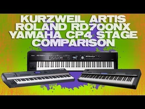Kurzweil Artis Roland RD700NX Yamaha CP4 Stage Review Demo Comparison