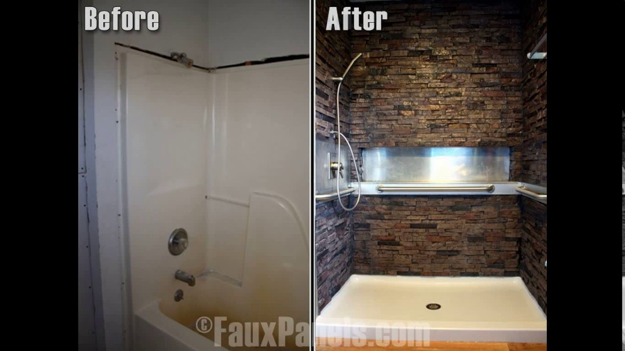 Stone Wall Bathroom Design