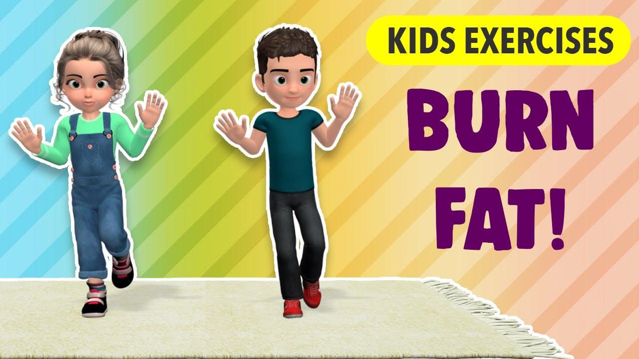 Burn Fat: Kids Exercises At Home - Fun Workout