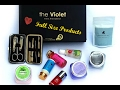 Violet box Jan Feb 2017 : Unboxing, Review | Indian Youtuber | Tanya says