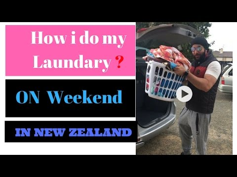 How i do laundry (Wash clothes) on my weekend in New Zealand . Just for fun and blog video [Hindi]