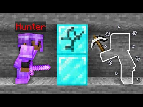 """Minecraft Manhunt but i secretly used """"INVISIBILITY"""" mode.."""