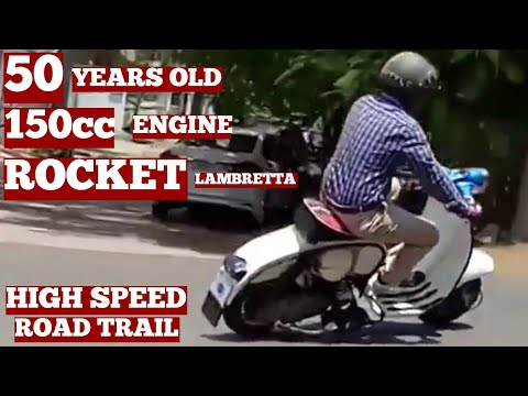 Rocket Old Lambretta Scooter Original Old Model 150cc Engine On Road Owner Rider Ramesh Vizag City