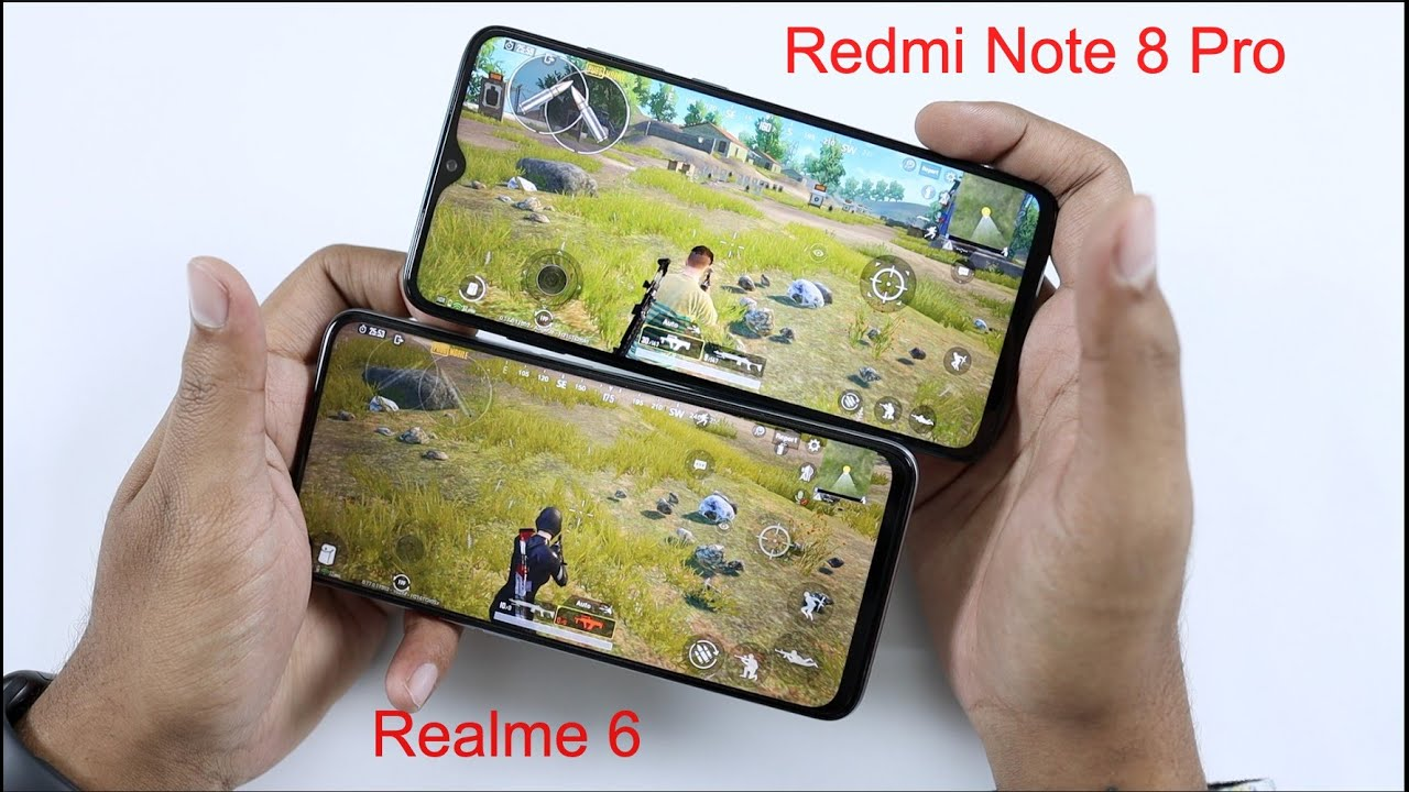 Realme 6 vs Redmi Note 8 Pro PUBG Gaming Review & Speed Test Comparison | Hindi