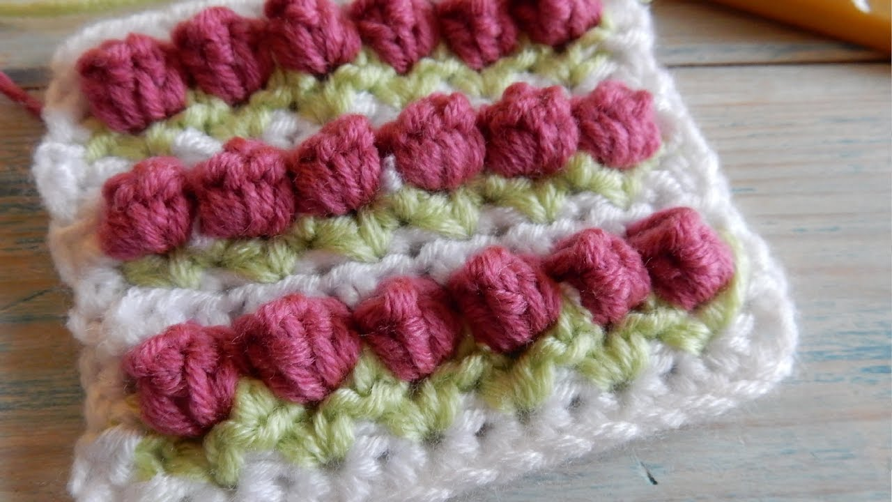 How to Crochet the Tulip Stitch (hdc variation) - YouTube