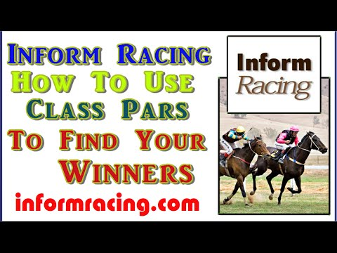 Inform Racing Speed Rating Class Pars