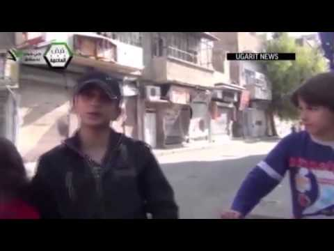 Video  Shell explodes centimetres away from Syrian children in Damascus   Metro News