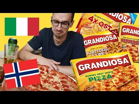 ITALIAN reacts to Norwegian frozen pizza Grandiosa