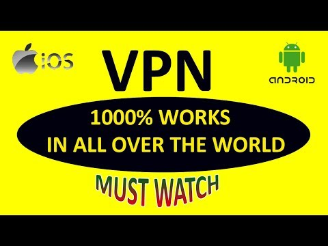 Best VPN for iPhone and Android! 2018 ~ How to configure a VPN in Iphone and Android