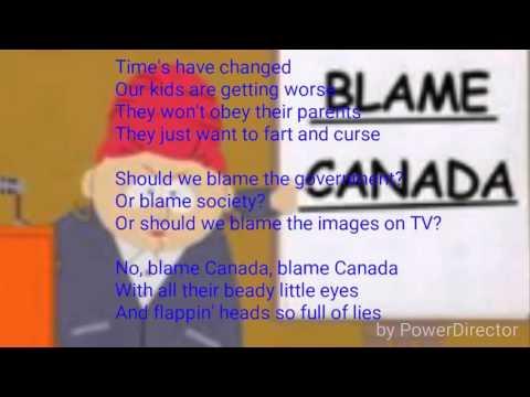 South Park blame Canada lyrics