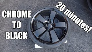 BEST WAY TO PAINT YOUR WHEELS BLACK!!