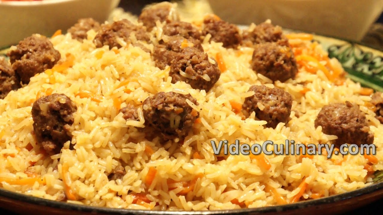 Meatballs and rice plov pilaf one pot dinner recipe youtube forumfinder Gallery