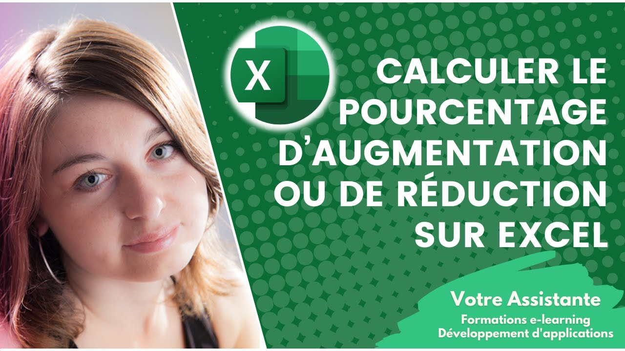 comment calculer le pourcentage d augmentation ou de r duction sur excel youtube. Black Bedroom Furniture Sets. Home Design Ideas