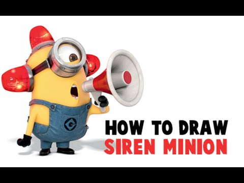 How to Draw Carl The Fire Fighter Minion (Bee Do Bee Do ...