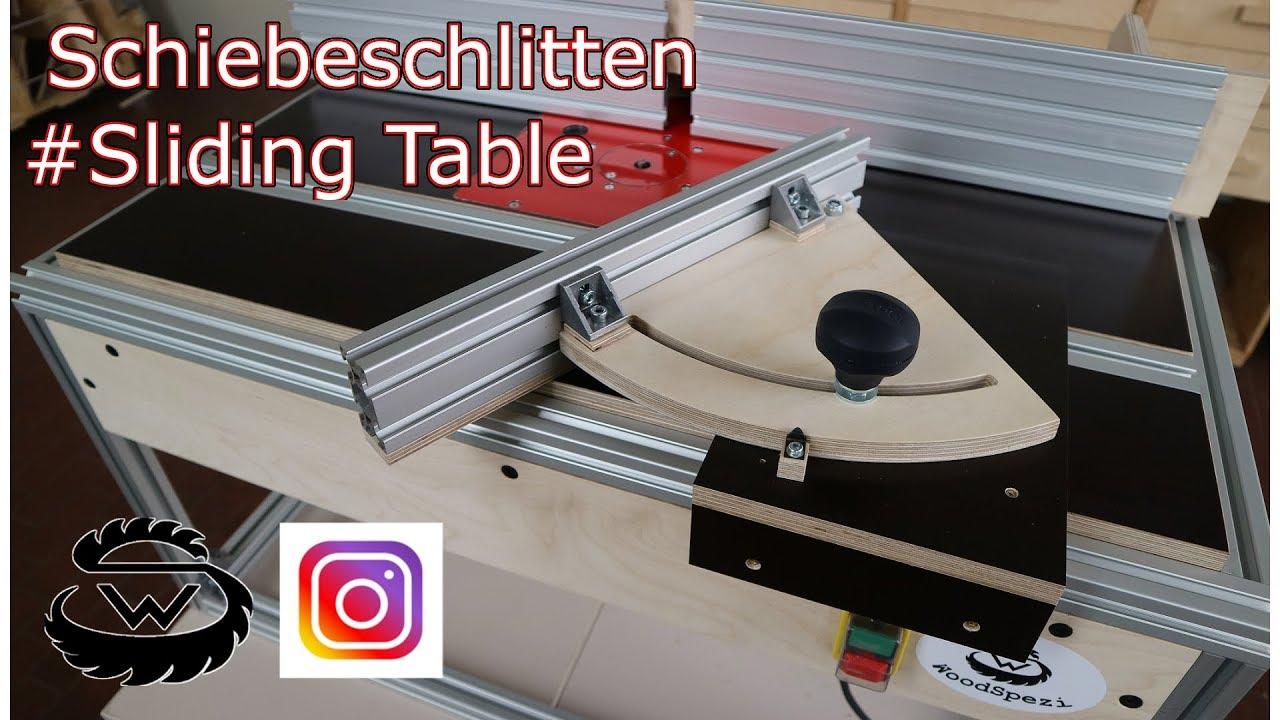 schiebeschlitten selber bauen sliding table diy part4 youtube. Black Bedroom Furniture Sets. Home Design Ideas