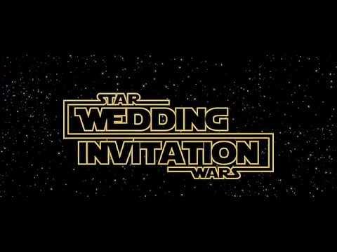 Star Wars Wedding Invitation Undangan