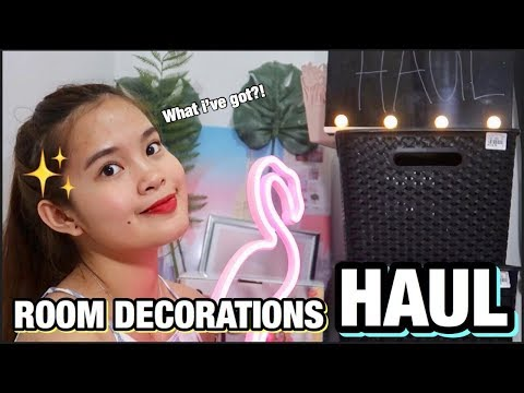 AFFORDABLE ROOM DECORATIONS HAUL (SAN MAKAKABILI!?) | PHILIPPINES
