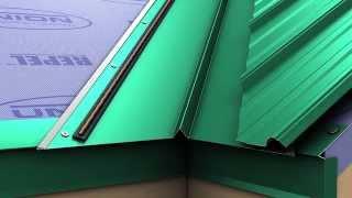 So installieren Sie ein Metall-Dach-valley für Union MasterRib panel.