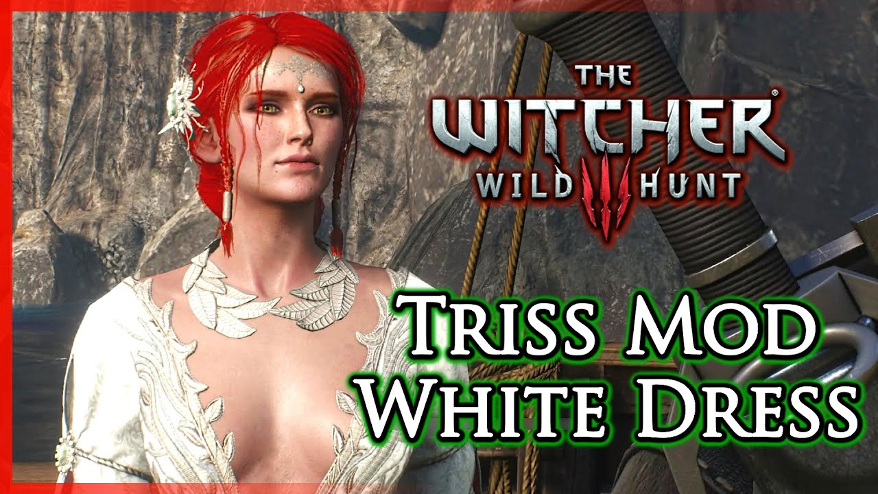 Witcher 3 White Dress For Triss Alternative Outfit Dlc Mod By Xletalis