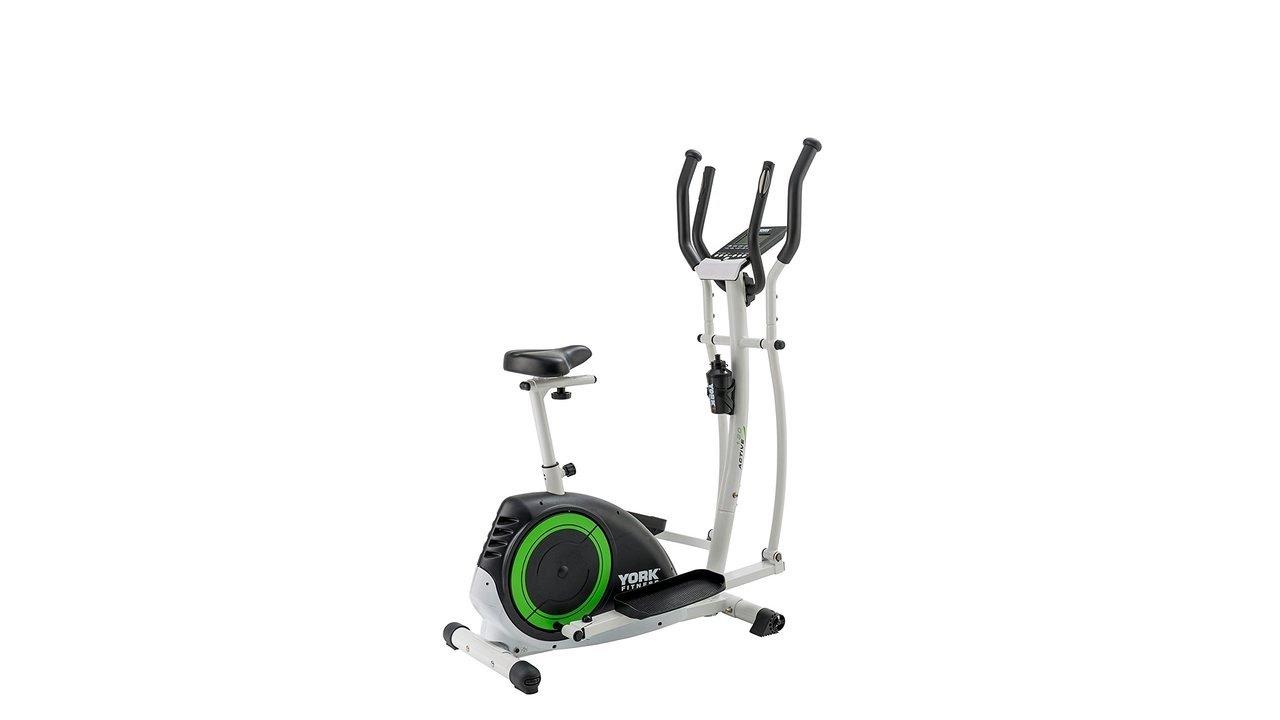 york aspire cross trainer. york fitness active 120 2-in-1 cycle cross trainer - black aspire