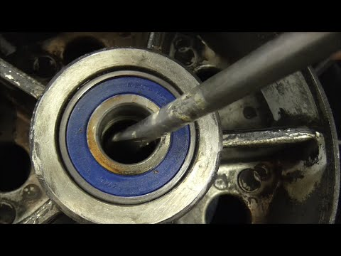 Delboy's Garage, Motorcycle Wheel Bearing Replacement.