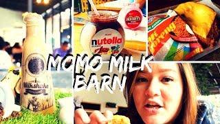 FOOD VLOG : MOMO MILK BARN | MILKSHAKE ENAK DI BOGOR | COBAIN INDOMIE DONAT