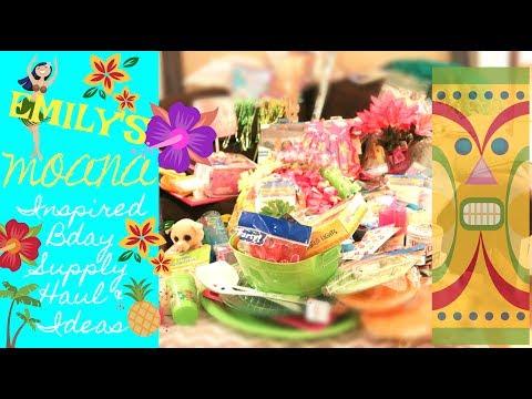 DISNEY'S MOANA HAWAIIAN INSPIRED BIRTHDAY HAUL! | SUPPLIES AND IDEAS! | FOR EMILY'S 2ND BIRTHDAY