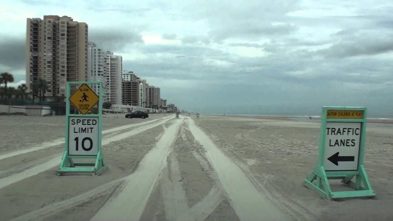 driving on the beach in daytona beach fl youtube. Black Bedroom Furniture Sets. Home Design Ideas