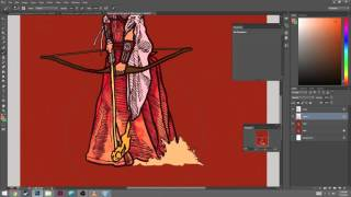 Gambar cover Twitch Stream - Comic Coloring Photoshop - Time Lapse