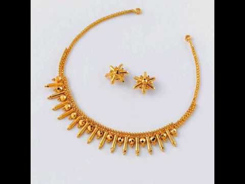 light weight simple gold necklace designs latest south