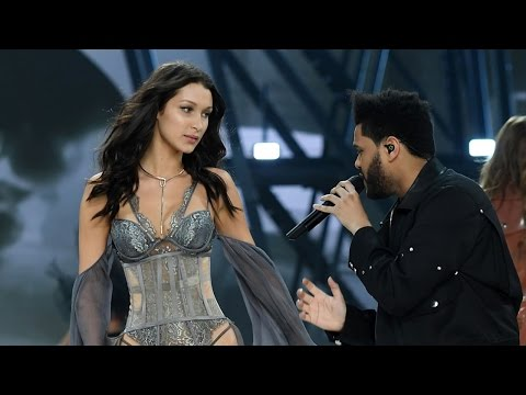 Bella Hadid & Ex The Weeknd REUNITE On The Runway At 2016 Victoria's Secret Fashion Show
