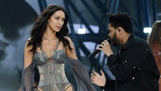 Bella Hadid & Ex The Weeknd REUNITE On The Runway At 2016 Victoria's Secret Fashion Show