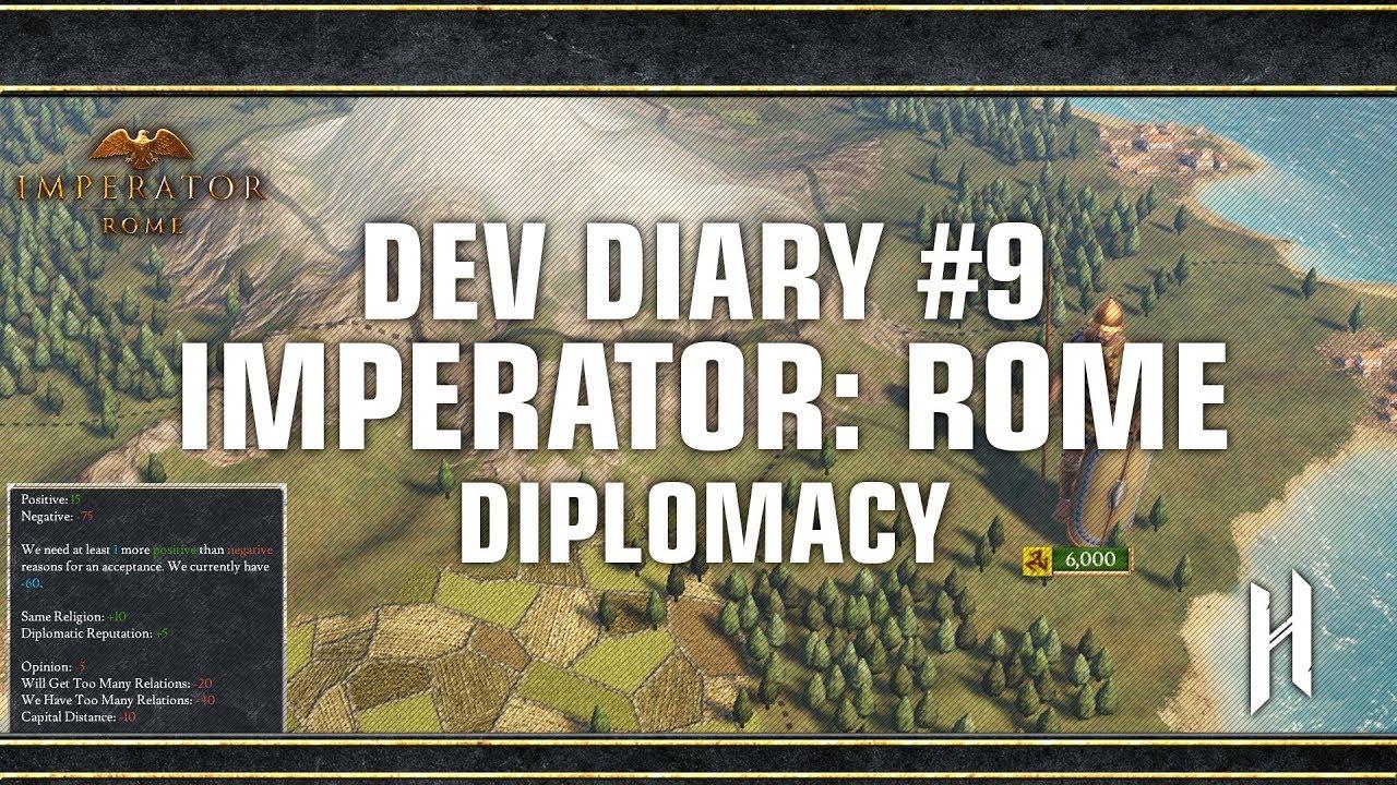 Imperator Rome Dev Diary 9 Diplomacy