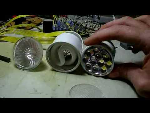 ProyectosLed 2 lamparas dicroicas led caseras de bajo