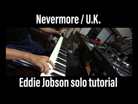 U.K. Nevermore keyboard solo cover tutorial Arturia CS-80V Eddie Jobson VAX77 Infinite Response