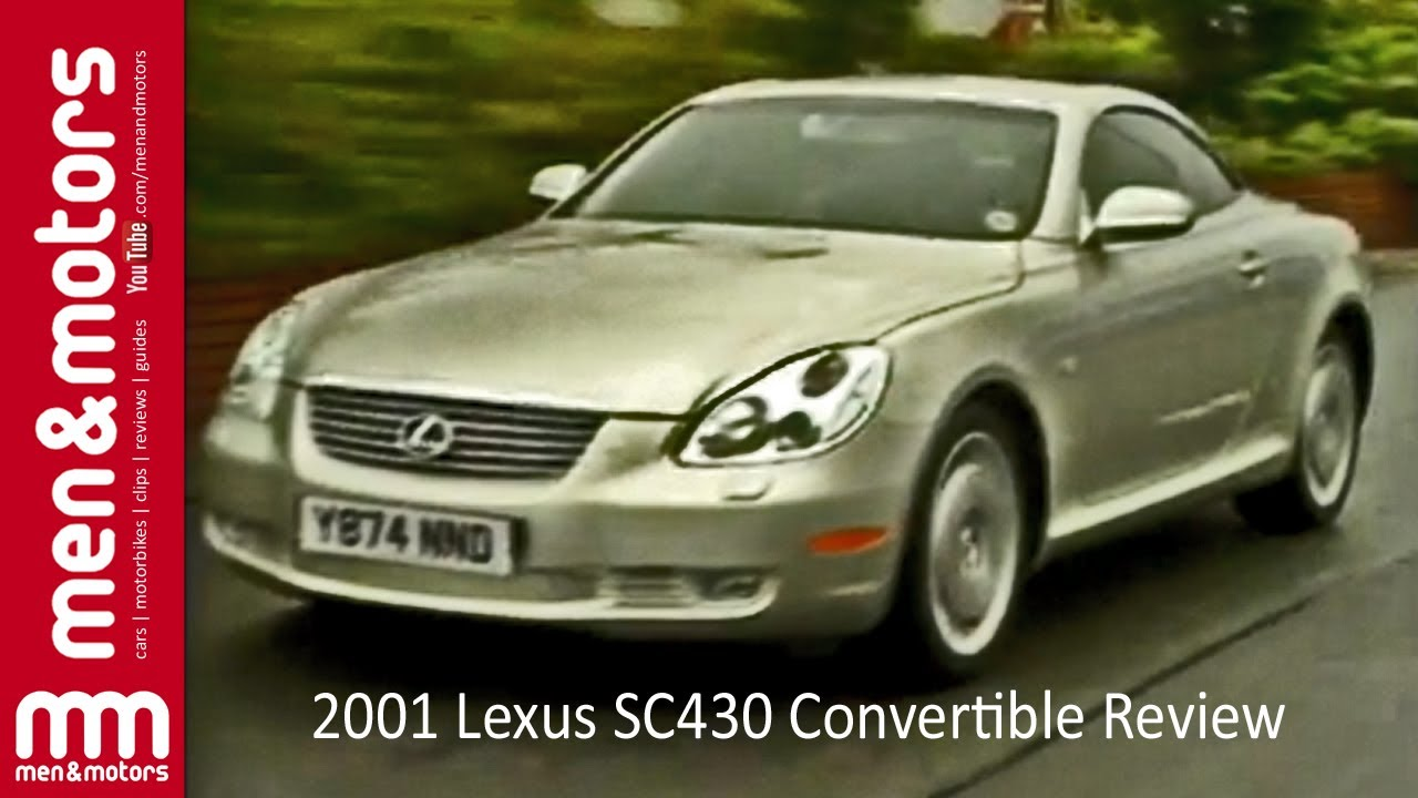 2001 lexus sc430 convertible review - youtube