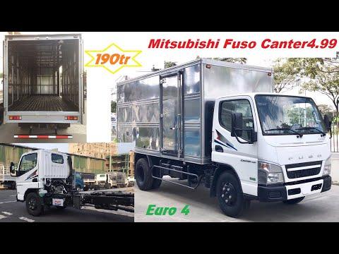 Xe tải Mitsubishi Fuso Canter4.99 thùng kín màu trắng tải 1.9 & 2.3 tấn mới Euro 4 | Xe Hạng Nặng