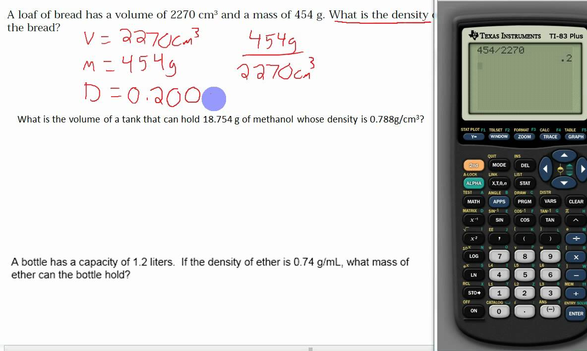 Density, Mass and Volume (solutions, examples, lessons
