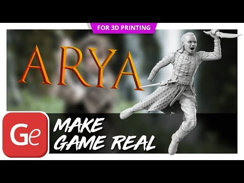 Arya 3D Printing Figurine | Presentation by Gambody